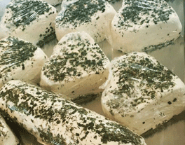 Cheese logs with herbs